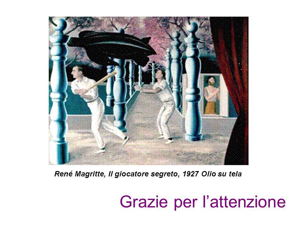 Grazie per l'attenzione René Magritte, Il giocatore segreto, 1927 Olio su tela