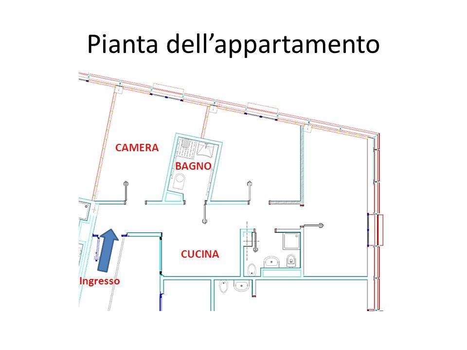 CAMERA CUCINA BAGNO Pianta dell'appartamento Ingresso