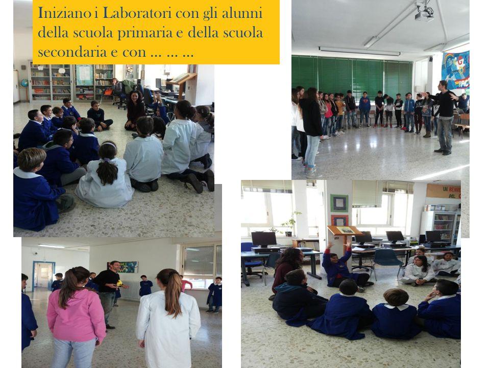 Iniziano i Laboratori con gli alunni della scuola primaria e della scuola secondaria e con … … …