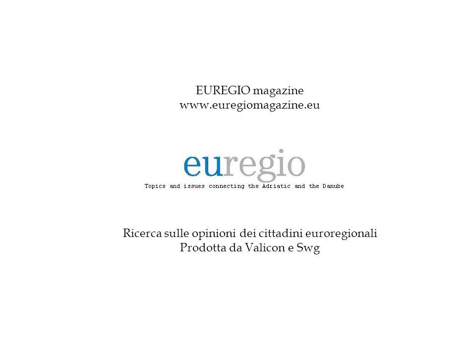 EUREGIO magazine www.euregiomagazine.eu Ricerca sulle opinioni dei cittadini euroregionali Prodotta da Valicon e Swg