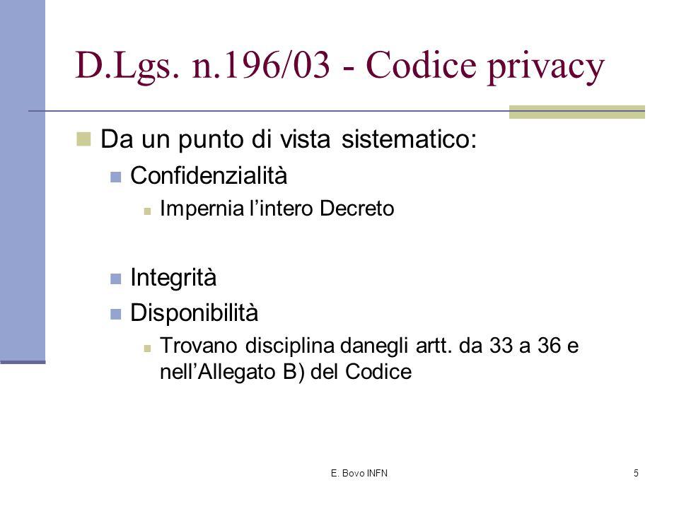 E. Bovo INFN4 D.Lgs.