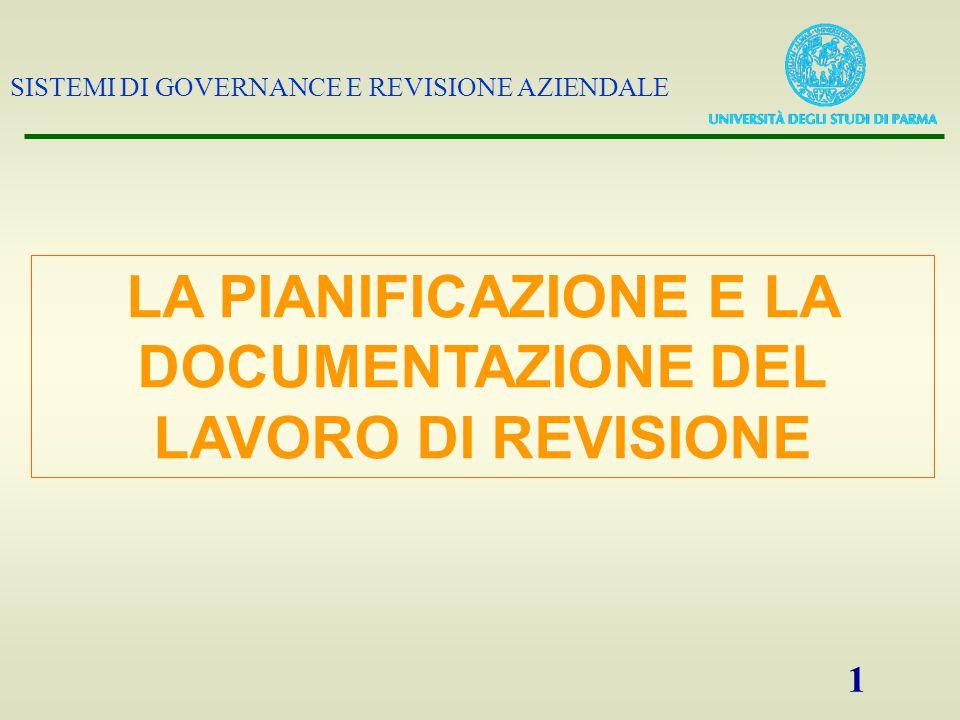 SISTEMI DI GOVERNANCE E REVISIONE AZIENDALE 2 La pianificazione