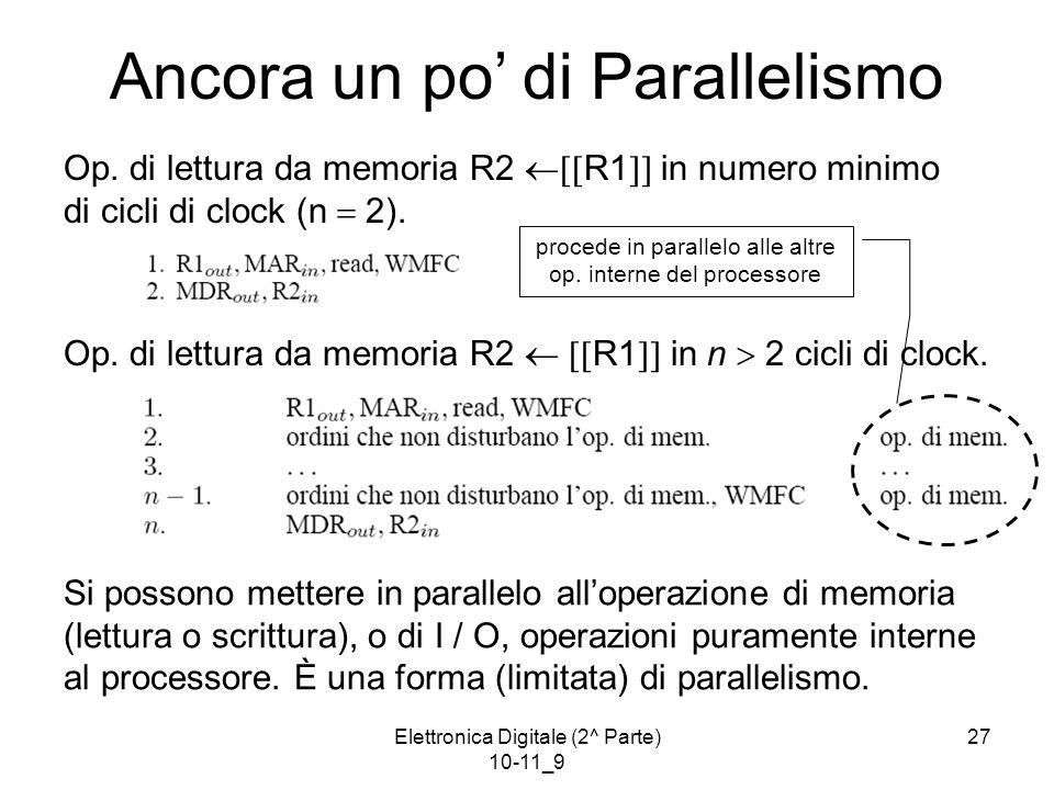 Elettronica Digitale (2^ Parte) 10-11_9 27 Ancora un po' di Parallelismo Op.