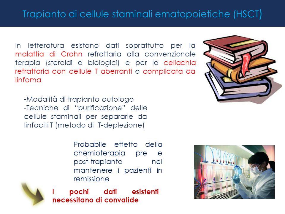 """Trapianto di cellule staminali ematopoietiche (HSCT ) -Modalità di trapianto autologo -Tecniche di """"purificazione"""" delle cellule staminali per separar"""