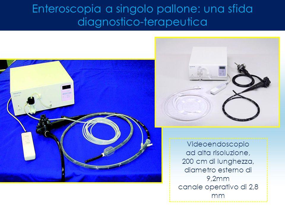 Videoendoscopio ad alta risoluzione, 200 cm di lunghezza, diametro esterno di 9,2mm canale operativo di 2,8 mm Enteroscopia a singolo pallone: una sfi