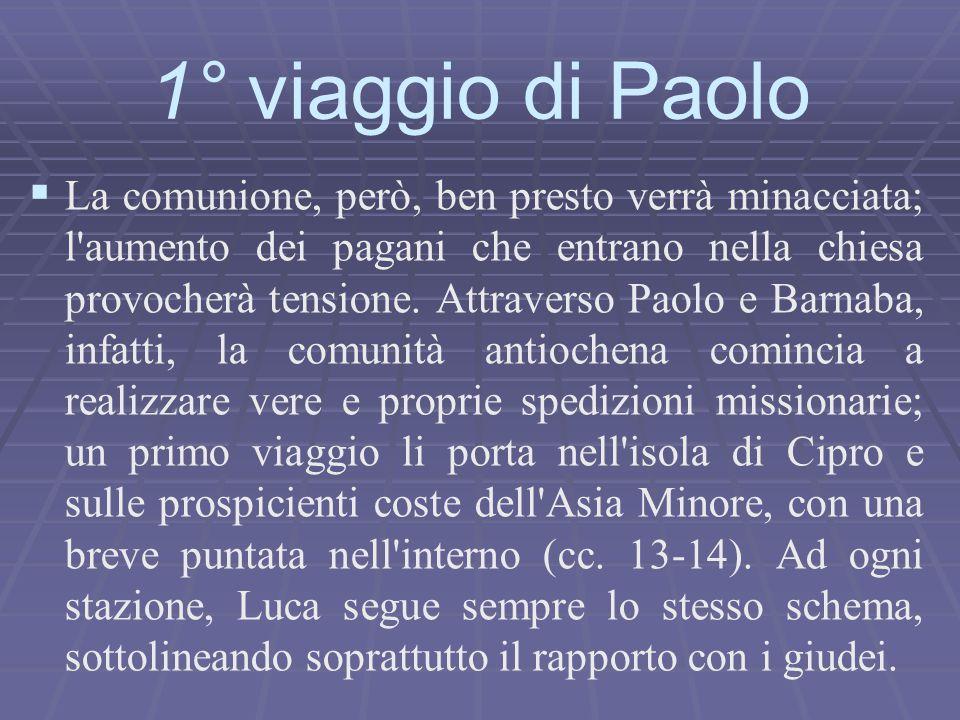   La comunione, però, ben presto verrà minacciata; l'aumento dei pagani che entrano nella chiesa provocherà tensione. Attraverso Paolo e Barnaba, in