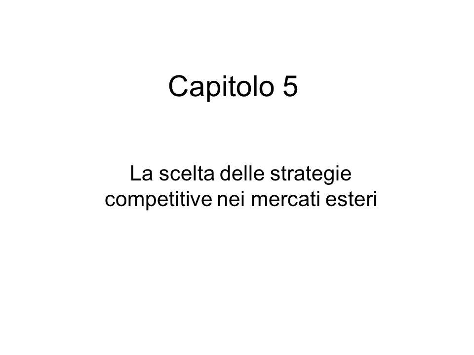 Capitolo 5 La scelta delle strategie competitive nei mercati esteri