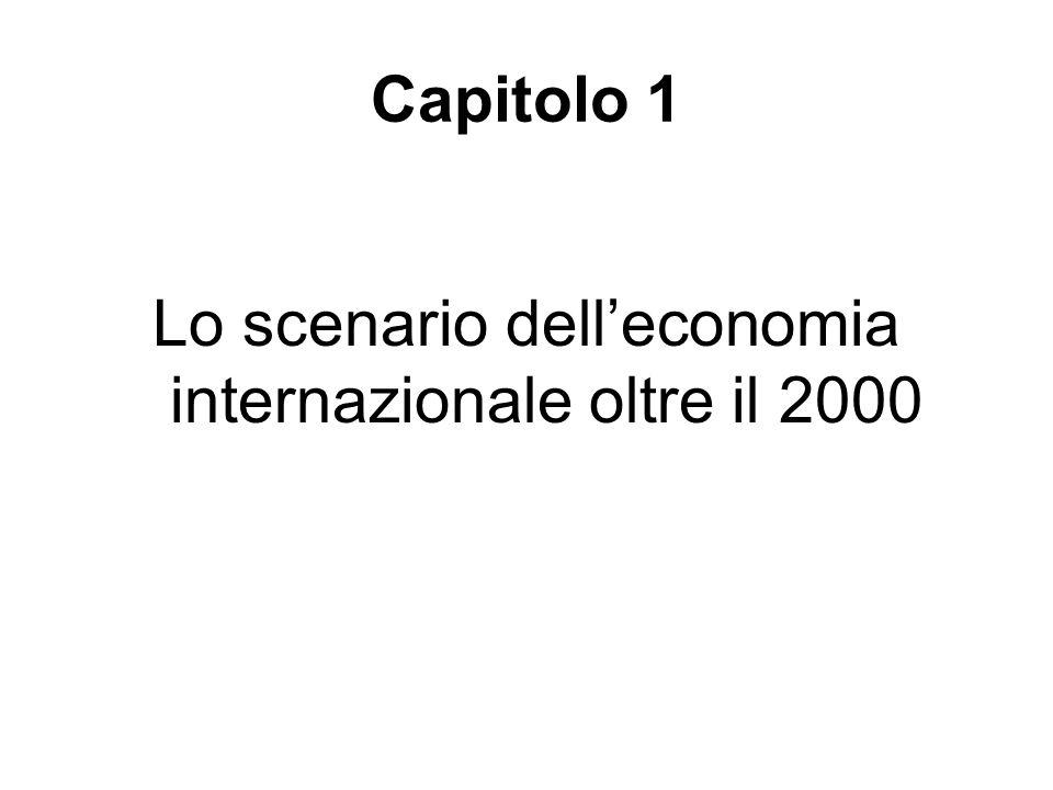 Capitolo 1 Lo scenario dell'economia internazionale oltre il 2000