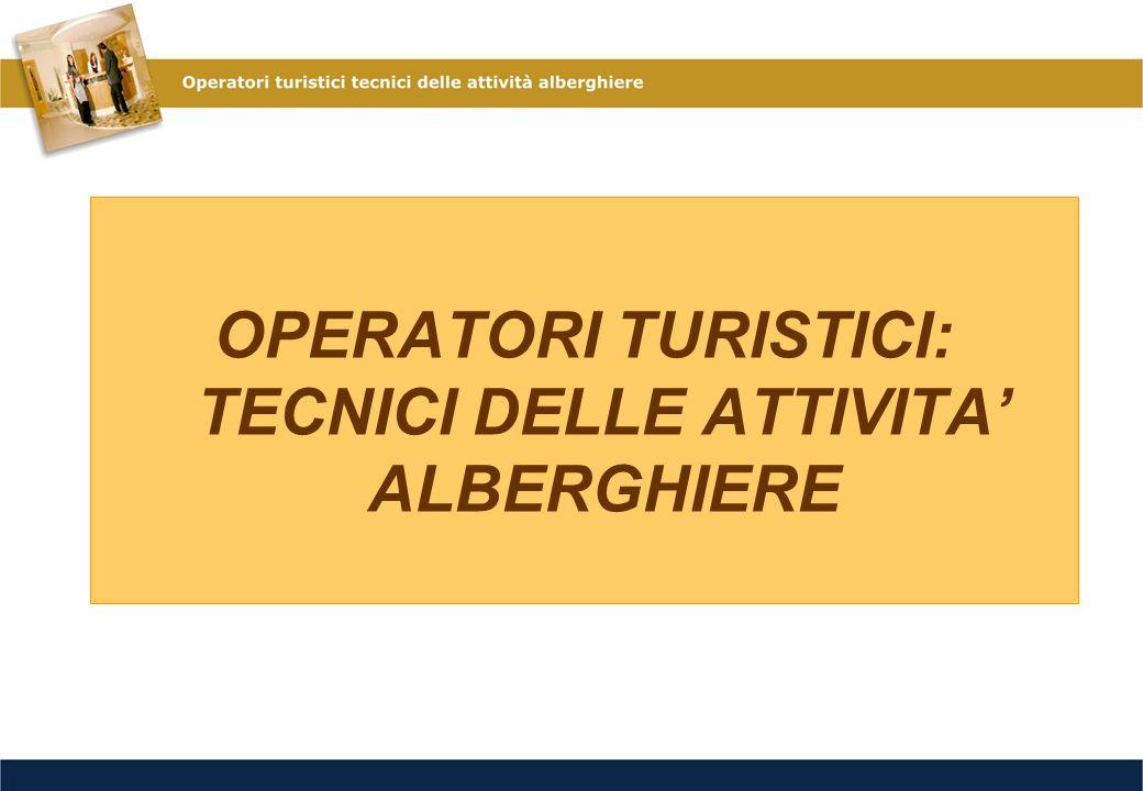 Formazione di tecnici che possano assumere ruoli lavorativi a vari livelli di responsabilità nelle aziende alberghiere e nei servizi di gestione necessari a realizzare servizi integrati nel settore turistico.