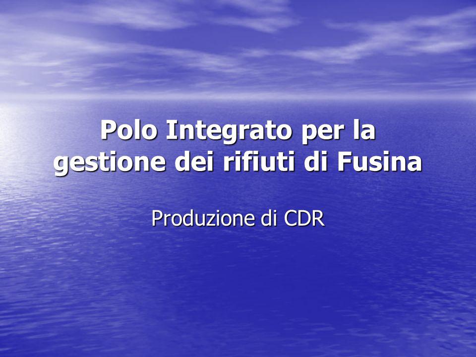 Polo Integrato per la gestione dei rifiuti di Fusina Produzione di CDR