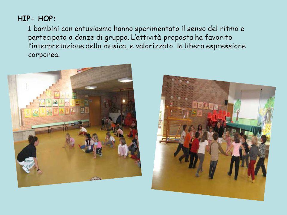 HIP- HOP: I bambini con entusiasmo hanno sperimentato il senso del ritmo e partecipato a danze di gruppo.