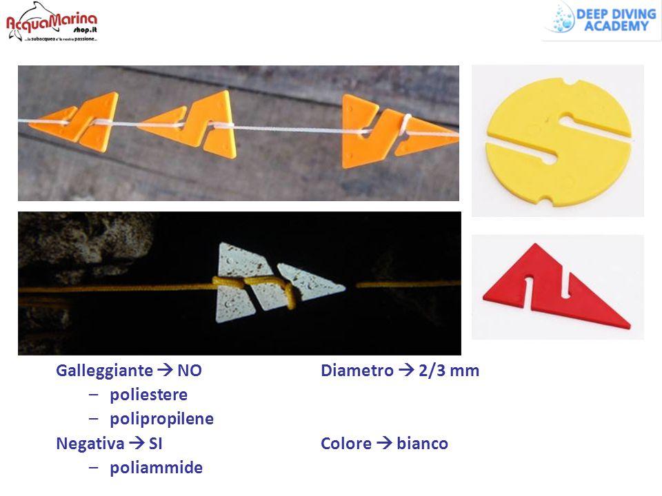 Galleggiante  NODiametro  2/3 mm –poliestere –polipropilene Negativa  SIColore  bianco –poliammide
