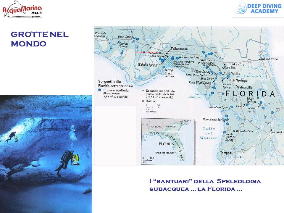 """GROTTE NEL MONDO I """"santuari"""" della Speleologia subacquea … la Florida …"""