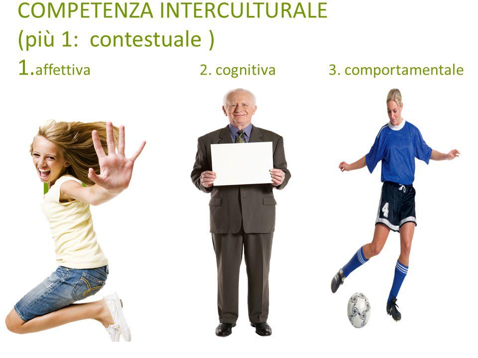 COMPETENZA INTERCULTURALE (più 1: contestuale ) 1. affettiva 2. cognitiva 3. comportamentale