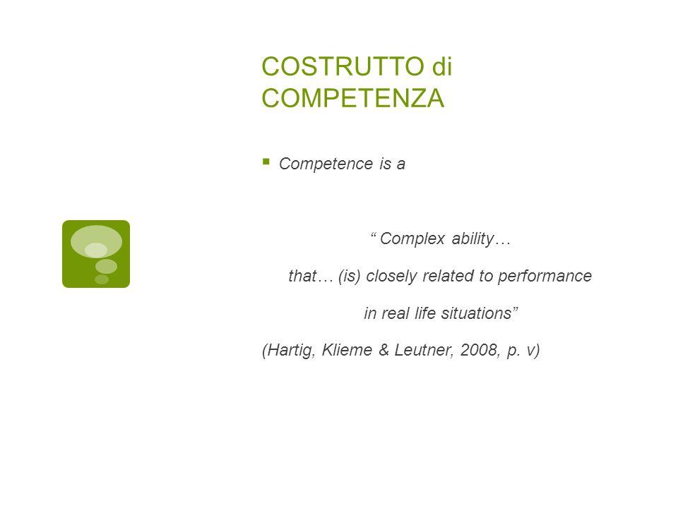 COMPETENZA Le competenze sono costituite dall'attitudine individuale e, al limite, soggettiva, di usare le proprie qualificazioni, i propri saper fare e le proprie conoscenze al fine di raggiungere un risultato.