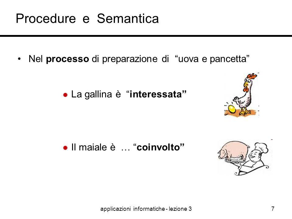 """applicazioni informatiche - lezione 36 Procedure e Semantica Nella gestione dei processi devono essere definiti i """"ruoli chiave"""".  Che differenza c'è"""