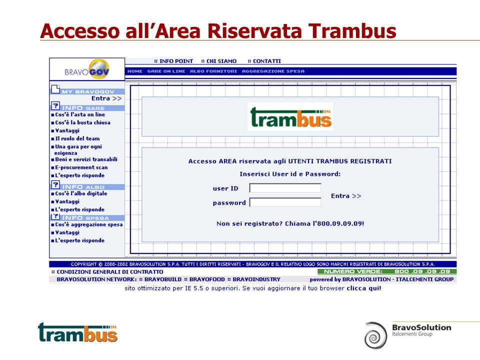 Accesso all'Area Riservata Trambus