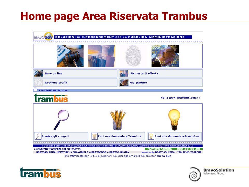 Home page Area Riservata Trambus