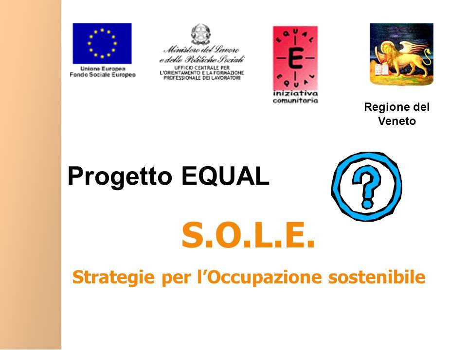 Progetto EQUAL S.O.L.E. Strategie per l'Occupazione sostenibile Regione del Veneto