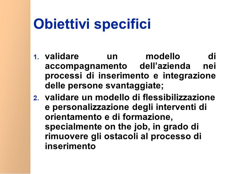 Obiettivi specifici 1.
