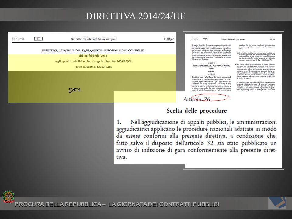 DIRETTIVA 2014/24/UE gara