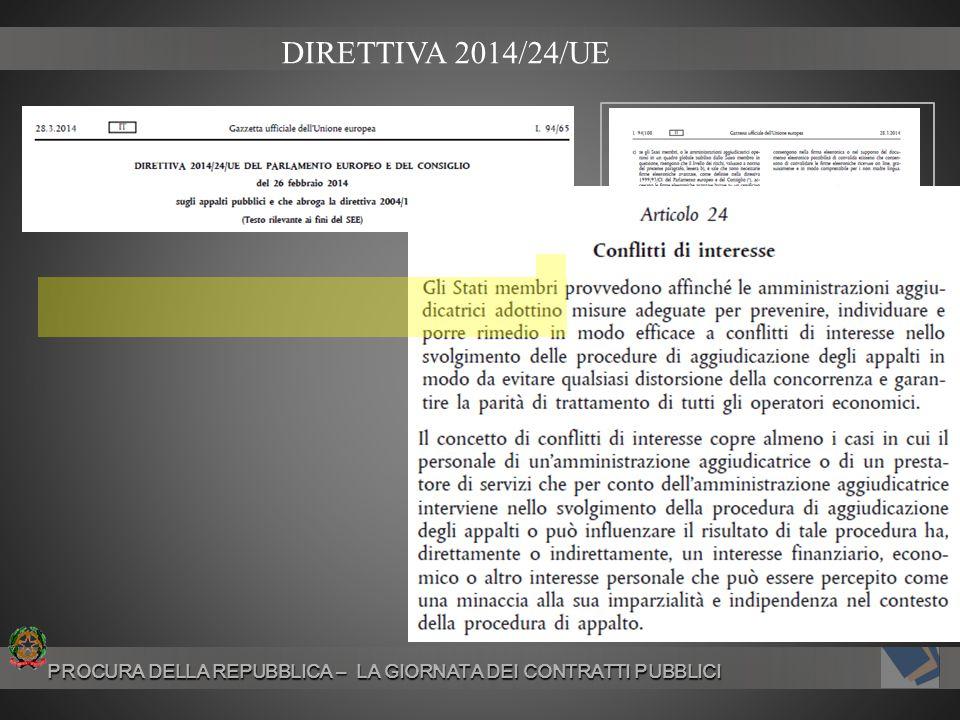 PROCURA DELLA REPUBBLICA – LA GIORNATA DEI CONTRATTI PUBBLICI PROCURA DELLA REPUBBLICA – LA GIORNATA DEI CONTRATTI PUBBLICI DIRETTIVA 2014/24/UE