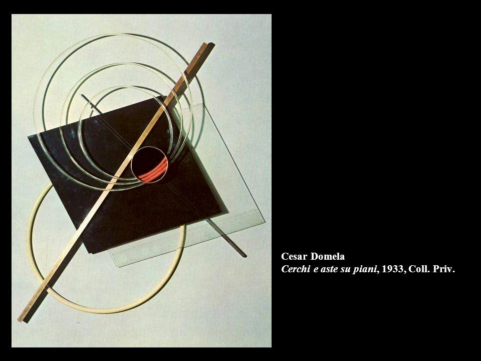 Cesar Domela Cerchi e aste su piani, 1933, Coll. Priv.