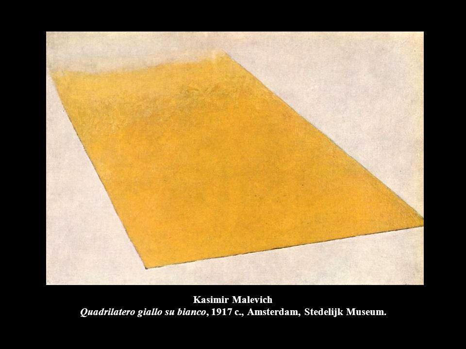 Kasimir Malevich Quadrilatero giallo su bianco, 1917 c., Amsterdam, Stedelijk Museum.