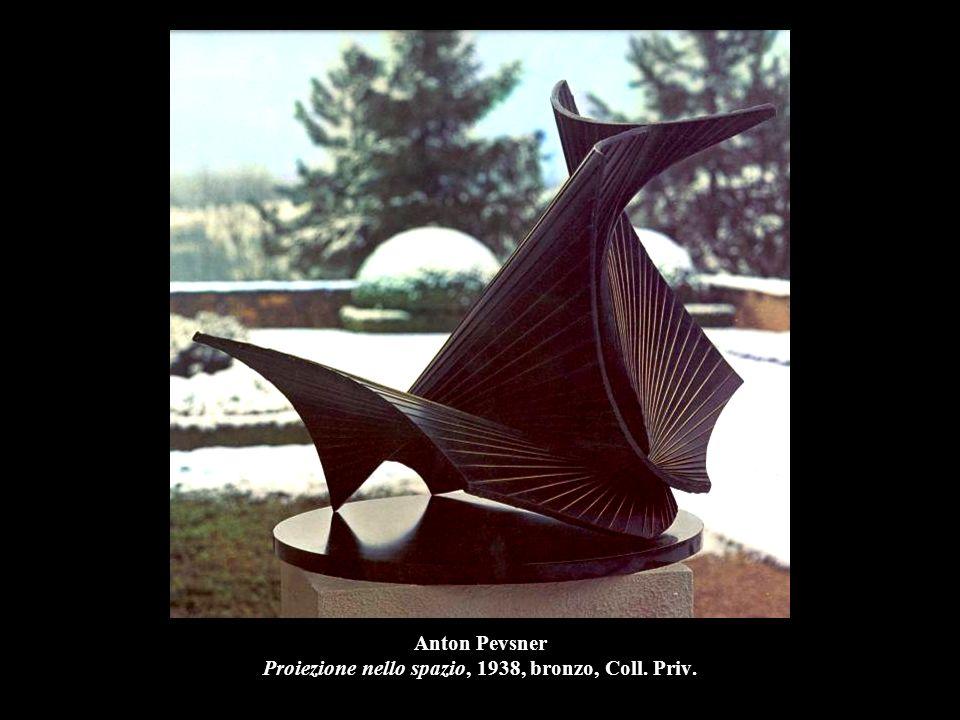Anton Pevsner Proiezione nello spazio, 1938, bronzo, Coll. Priv.