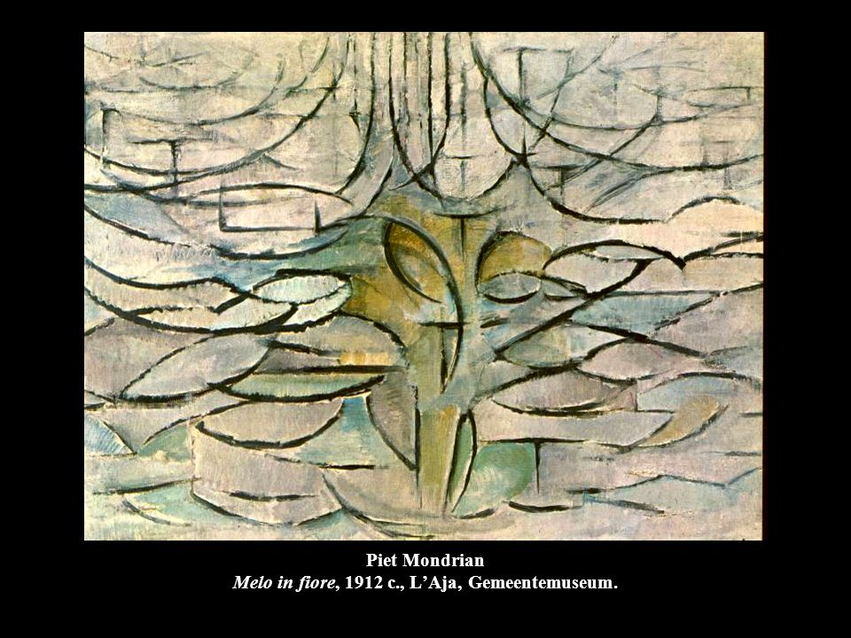 Piet Mondrian Composizione ovale (Alberi), 1913, Amsterdam, Stedelijk Museum.