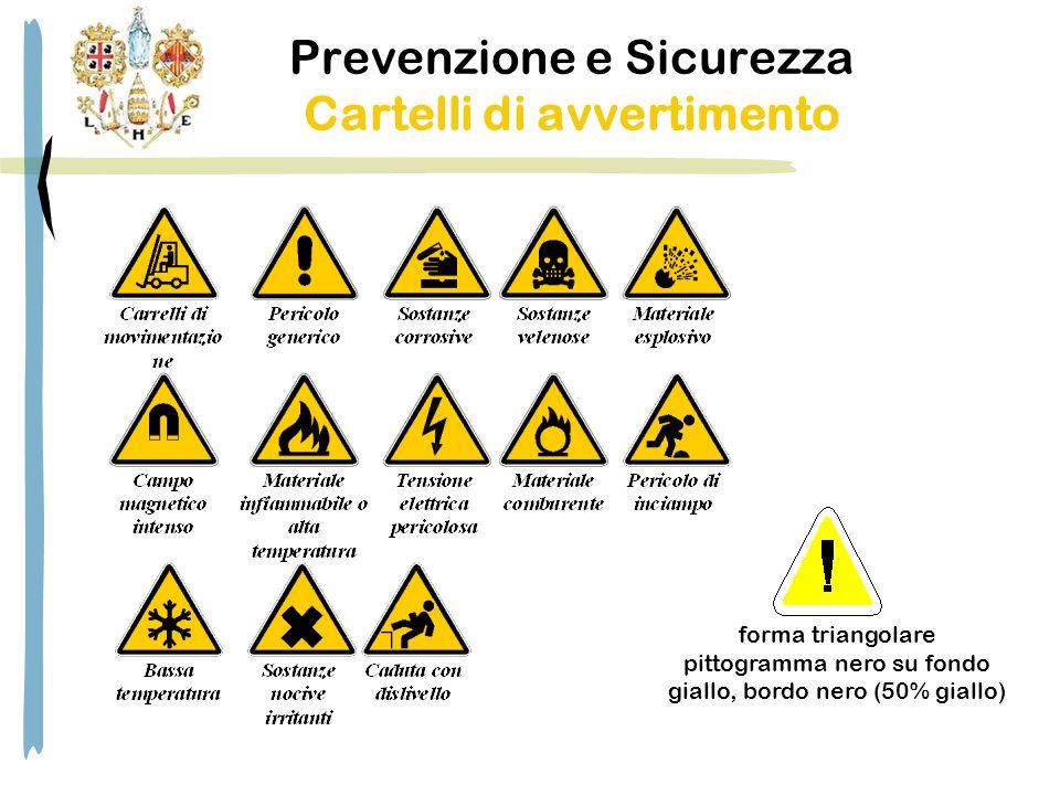 Prevenzione e Sicurezza Cartelli di avvertimento forma triangolare pittogramma nero su fondo giallo, bordo nero (50% giallo)