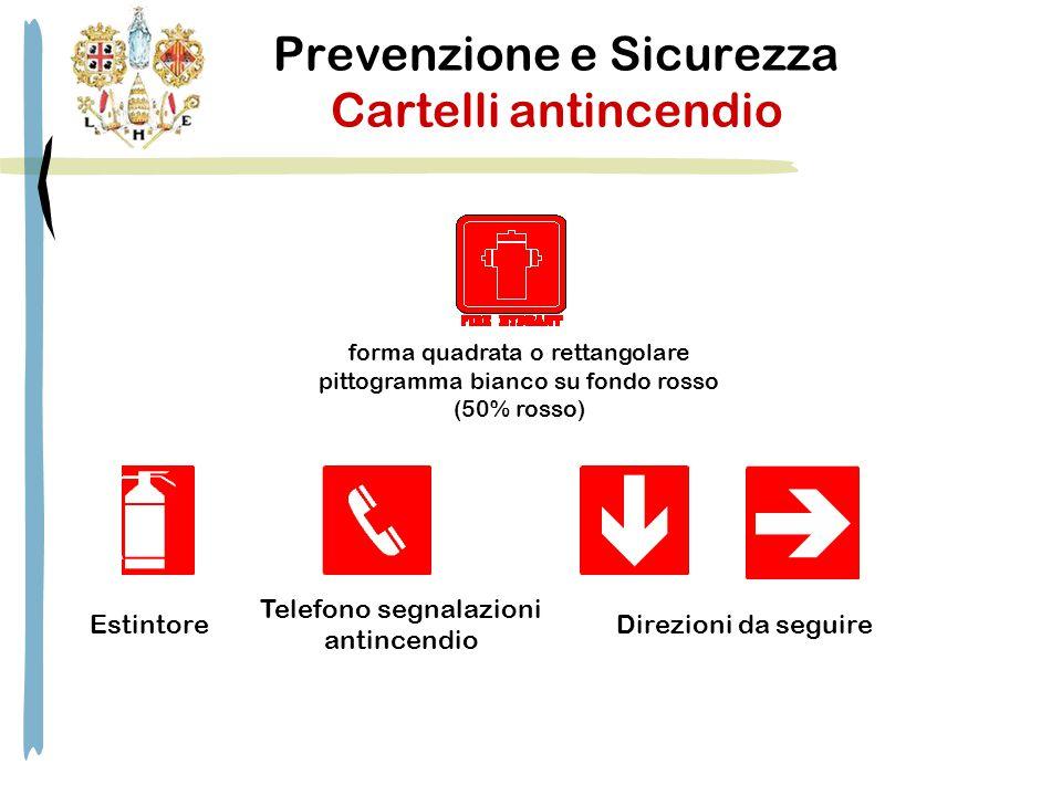 Prevenzione e Sicurezza Cartelli antincendio forma quadrata o rettangolare pittogramma bianco su fondo rosso (50% rosso) Estintore Telefono segnalazio