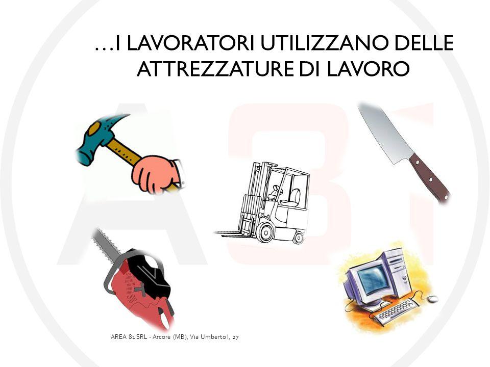 …I LAVORATORI UTILIZZANO DELLE ATTREZZATURE DI LAVORO AREA 81 SRL - Arcore (MB), Via Umberto I, 27