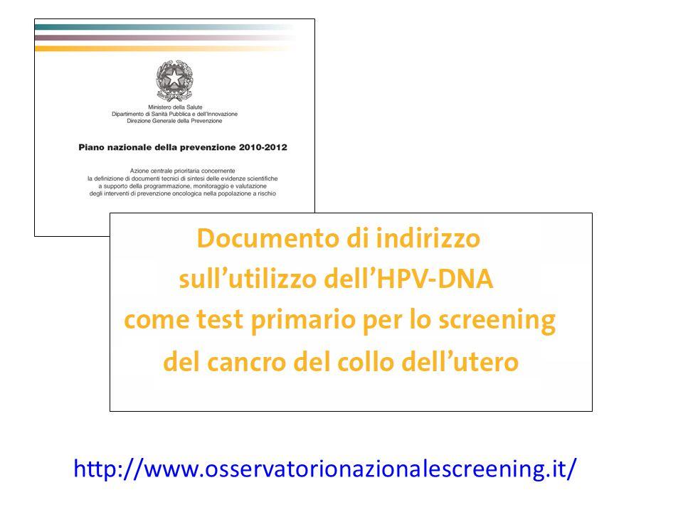 Strategia di screening cervicale con Pap-test 14 episodi di screening nella vita