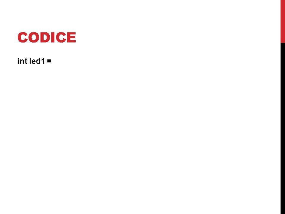 CODICE int led1 =