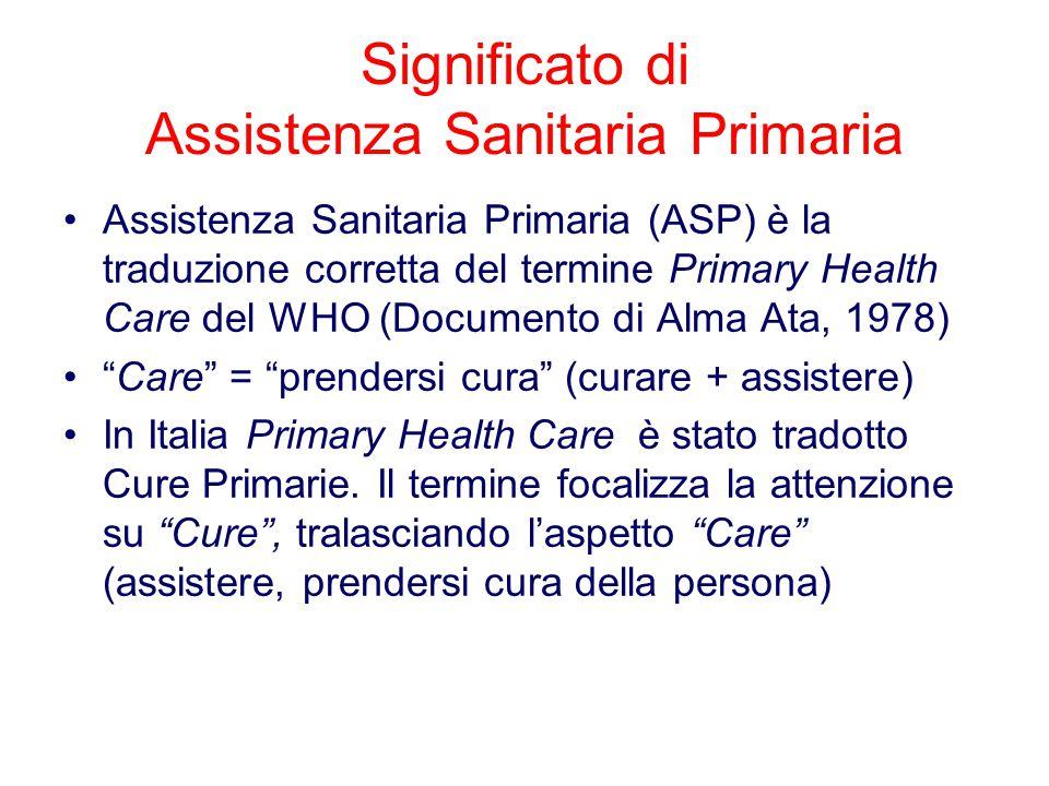 7.La ASP si avvale di medici e professioni sanitarie e di personale socio- assistenziale competenti preparati a lavorare in gruppo per rispondere ai bisogni di salute di individui, famiglie, comunità.