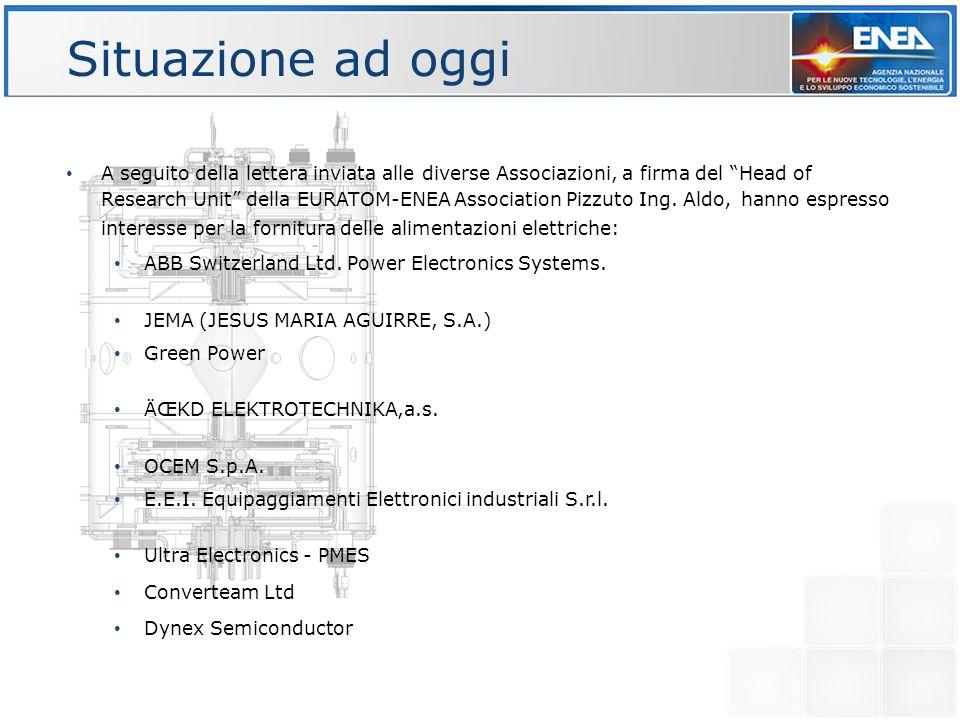 """Situazione ad oggi A seguito della lettera inviata alle diverse Associazioni, a firma del """"Head of Research Unit"""" della EURATOM-ENEA Association Pizzu"""