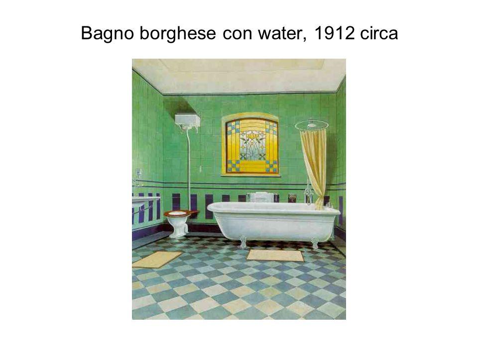 Bagno borghese con water, 1912 circa