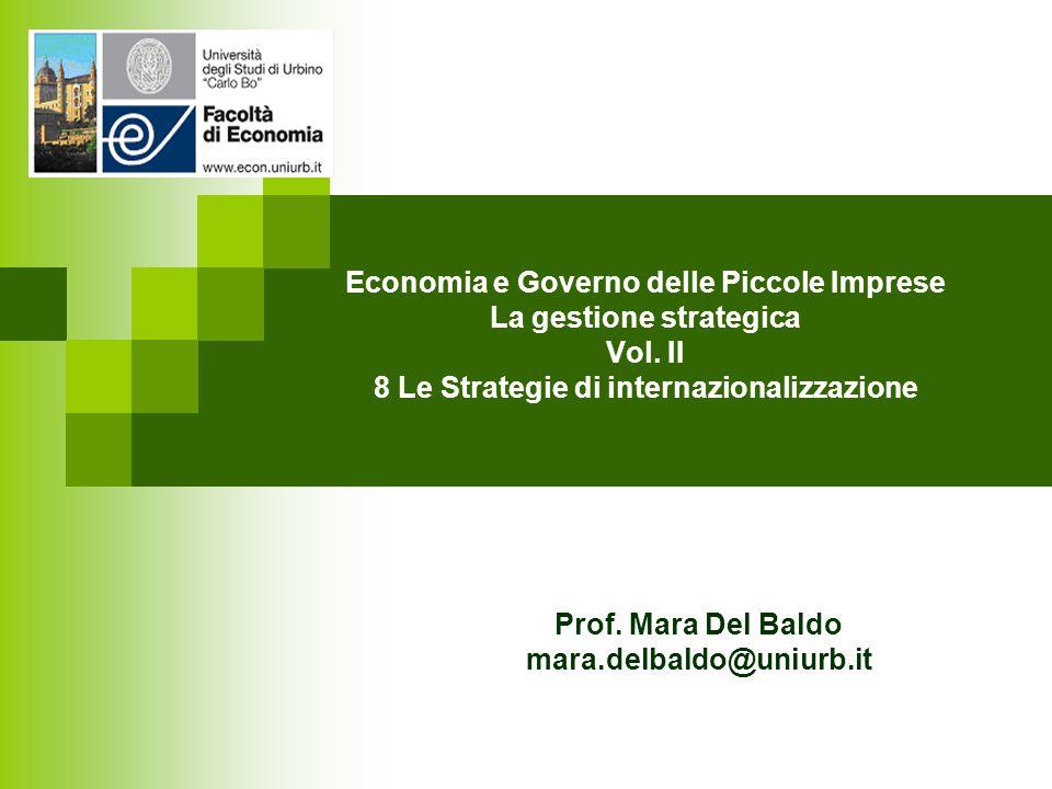 Economia e Governo delle Piccole Imprese La gestione strategica Vol.