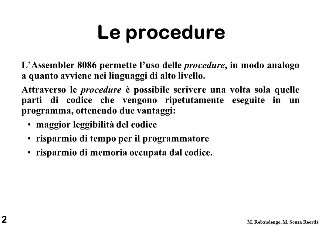 2 M. Rebaudengo, M.