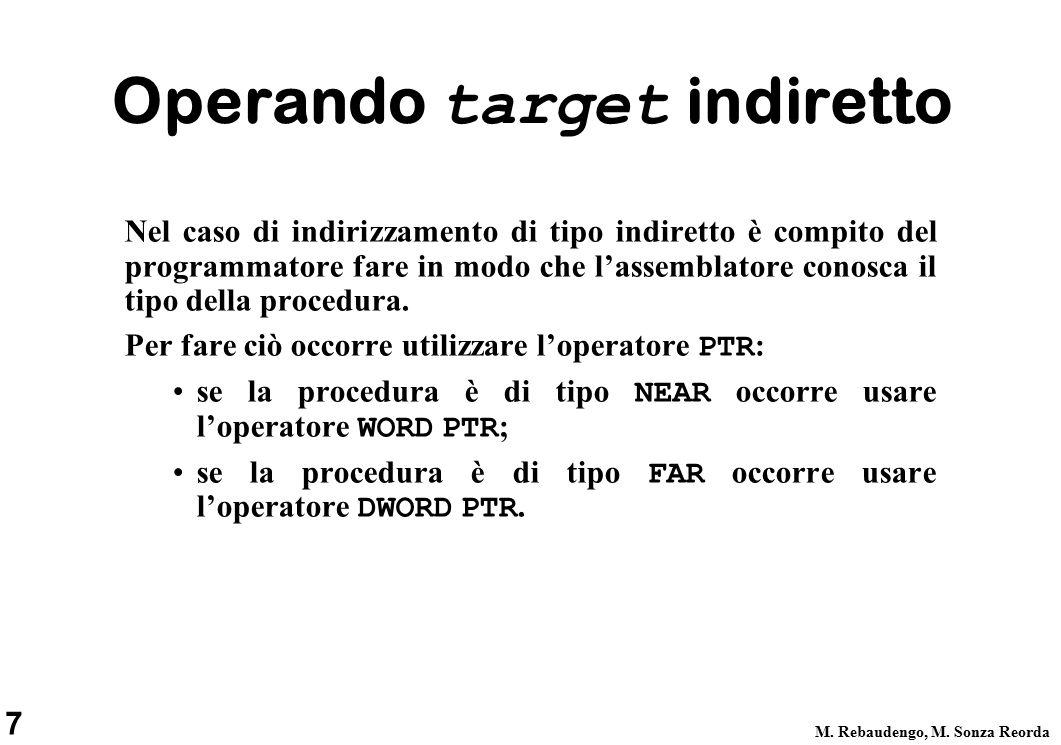 8 M.Rebaudengo, M. Sonza Reorda Esempio.DATA ADDR1DWDISPLAY1....CODE...