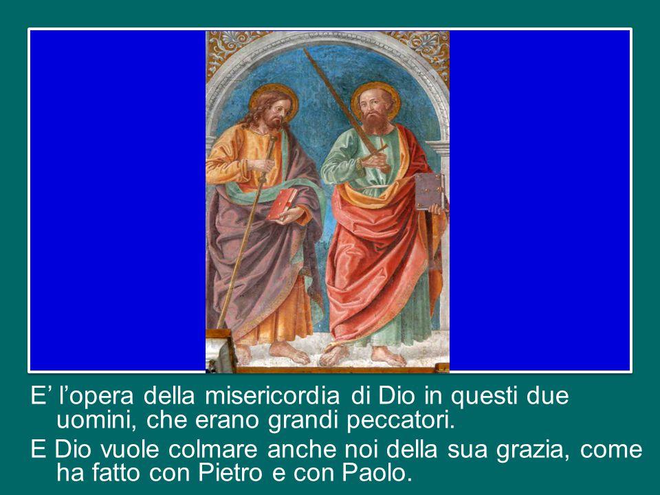 Cari fratelli e sorelle, questa festa suscita in noi una grande gioia, perché ci pone di fronte all'opera della misericordia di Dio nel cuore di due u