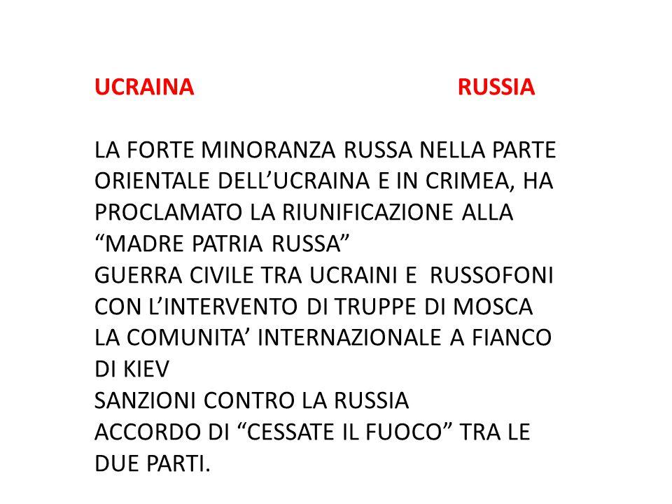 """UCRAINA RUSSIA LA FORTE MINORANZA RUSSA NELLA PARTE ORIENTALE DELL'UCRAINA E IN CRIMEA, HA PROCLAMATO LA RIUNIFICAZIONE ALLA """"MADRE PATRIA RUSSA"""" GUER"""
