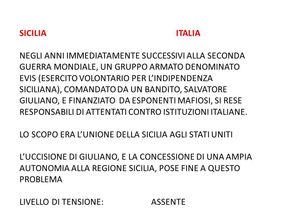 SICILIA ITALIA NEGLI ANNI IMMEDIATAMENTE SUCCESSIVI ALLA SECONDA GUERRA MONDIALE, UN GRUPPO ARMATO DENOMINATO EVIS (ESERCITO VOLONTARIO PER L'INDIPEND
