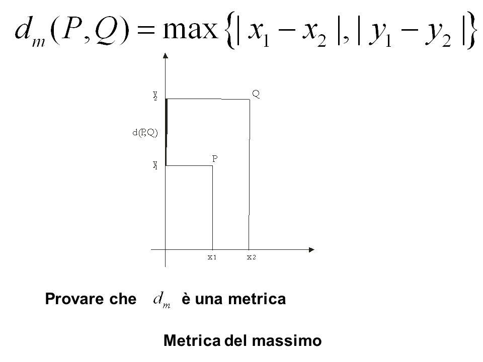 Metrica del massimo Provare che è una metrica