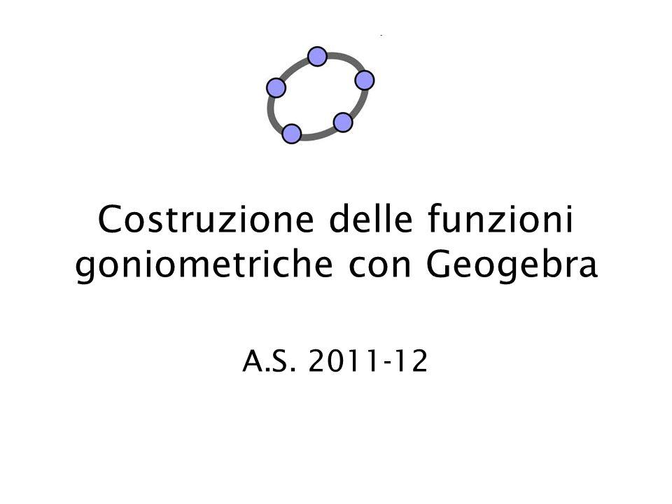 Circonferenza goniometrica Definizione: La circonferenza goniometrica è una circonferenza che ha per centro l'origine degli assi e raggio1