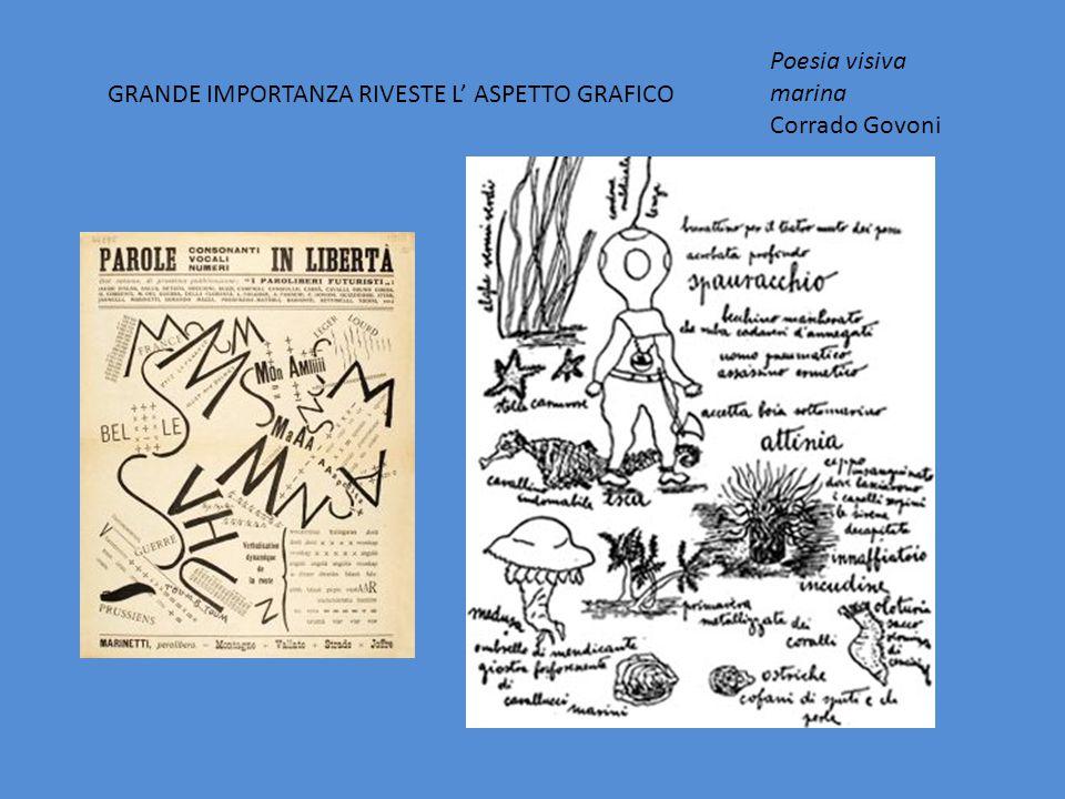 GRANDE IMPORTANZA RIVESTE L' ASPETTO GRAFICO Poesia visiva marina Corrado Govoni