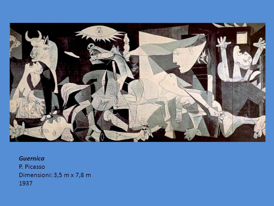 Guernica P. Picasso Dimensioni: 3,5 m x 7,8 m 1937