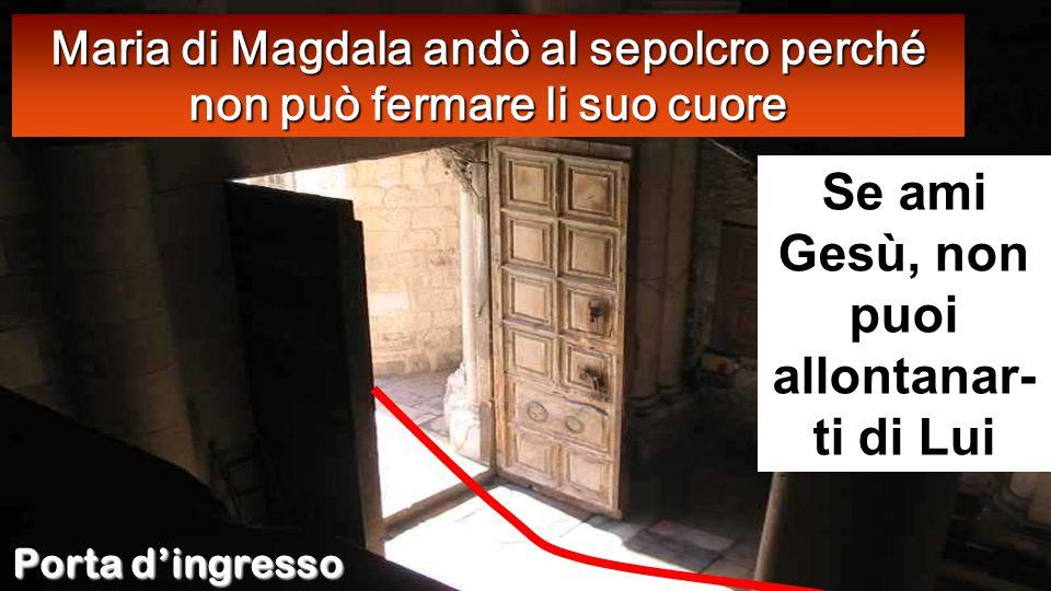 Gv 20:1-8 Il primo giorno della settimana, Maria di Màgdala si recò al sepolcro di mattino, quando era ancora buio, e vide che la pietra era stata tolta dal sepolcro.