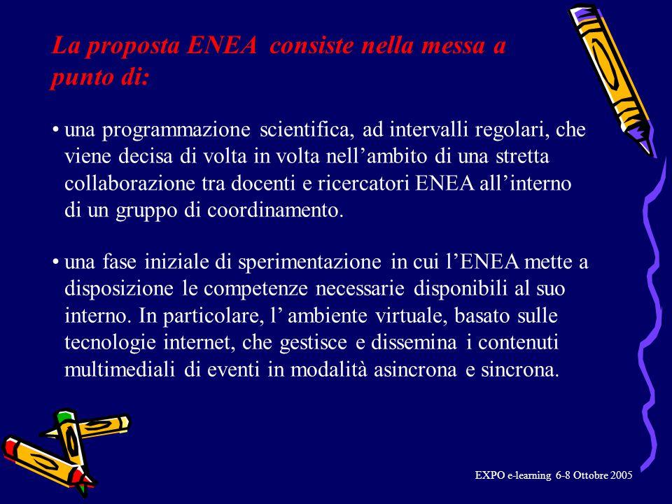 una programmazione scientifica, ad intervalli regolari, che viene decisa di volta in volta nell'ambito di una stretta collaborazione tra docenti e ricercatori ENEA all'interno di un gruppo di coordinamento.